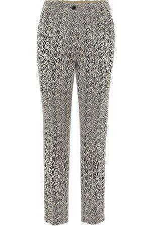 Etro Pantaloni slim in jacquard di cotone