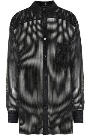 Etro Camicia in seta con lamé