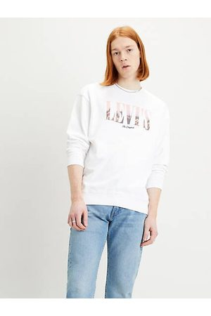 Levi's Uomo Felpe - Relaxed Graphic Crew Sweatshirt / Fit White