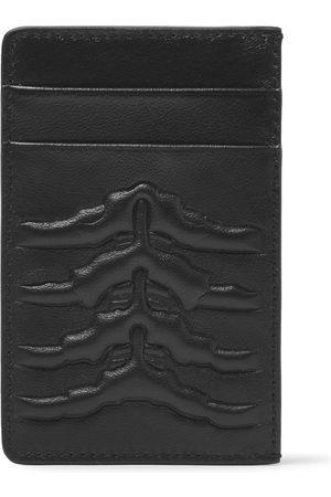 Alexander McQueen Uomo Portafogli e portamonete - Embossed Leather Cardholder