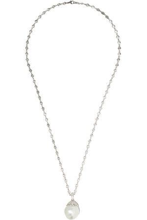 Yoko London Collana in oro bianco 18kt con perla barocca e diamanti - 7