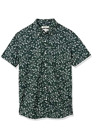 Goodthreads Marchio Amazon — - Camicia a maniche corte, in popeline stampato, da uomo, vestibilità standard, Skull, US M