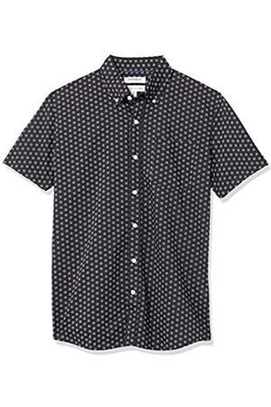 Goodthreads Marchio Amazon — - Camicia a maniche corte, in popeline stampato, da uomo, vestibilità standard, Micro Geo, US M