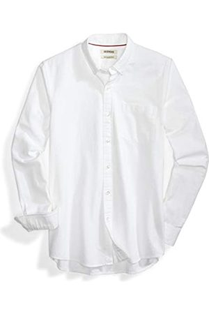 Goodthreads Uomo Casual - Slim-Fit Long-Sleeve Solid Oxford Shirt Camicia, Bianco , Large