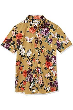 Goodthreads Marchio Amazon — - Camicia a maniche corte, in popeline stampato, da uomo, vestibilità standard, Floral Stork, US XXL