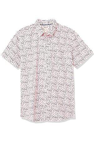 Goodthreads Marchio Amazon — - Camicia a maniche corte, in popeline stampato, da uomo, vestibilità standard, Placeholder Print, US XS