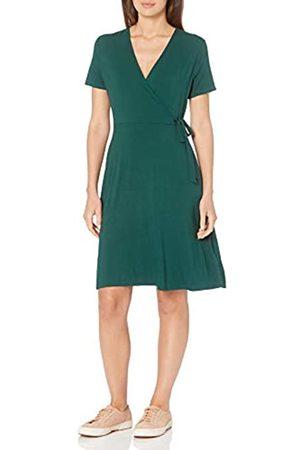 Amazon Cap-Sleeve Faux-Wrap Dress Dresses, Giada, US M