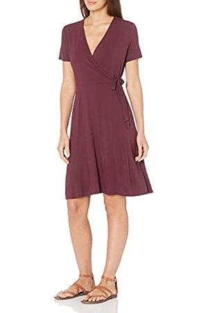 Amazon Cap-Sleeve Faux-Wrap Dress Dresses, 890v6, US