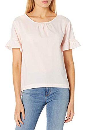 Goodthreads T-Shirt in Cotone Dobby con Maniche Flutter Shirts, Rosa Cristallo, US L