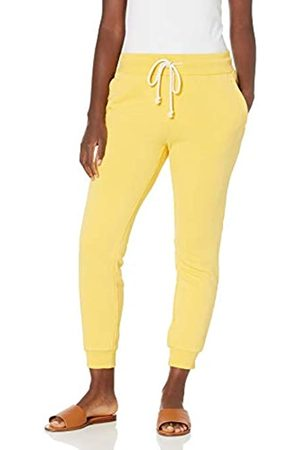 Goodthreads Heritage-Pantaloni da Jogging in Pile Athletic-Pants, Limone, S