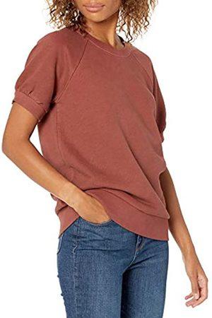 Goodthreads Donna Maniche corte - Camicia a Maniche Corte in Pile Fashion-Sweatshirts, Russet Brown, M