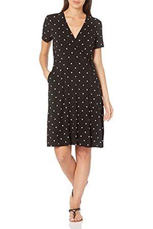 Amazon Donna Vestiti estivi - Cap-Sleeve Faux-Wrap Dress Dresses, Punto , US