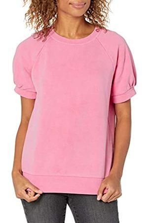 Goodthreads Donna Maniche corte - Camicia a Maniche Corte in Pile Fashion-Sweatshirts, Garofano , L