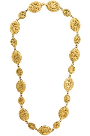 CHANEL Embossed medallions necklace - Effetto metallizzato