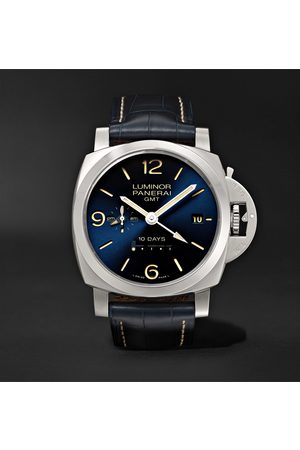 PANERAI Uomo Orologi - Luminor 1950 10 Days GMT Automatic 44mm Stainless Steel and Alligator Watch, Ref. No. PNPAM00986