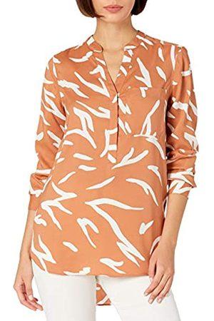 Daily Ritual Donna T-shirt - Georgette Henley - Tunica Shirts, Stampa zebrata Astratta e Bianca, US XXL