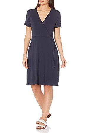 Amazon Cap-Sleeve Faux-Wrap Dress Dresses, Dainty, US L