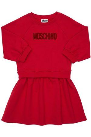 Moschino Abito In Felpa Di Cotone Con Logo