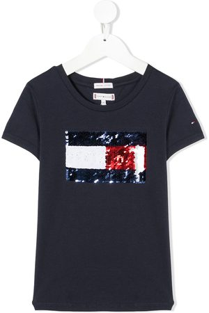 Tommy Hilfiger T-shirt a girocollo con paillettes - C87