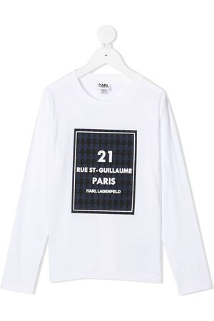 Karl Lagerfeld Kids Maniche lunghe - Top Rue St-Guillaume a maniche lunghe