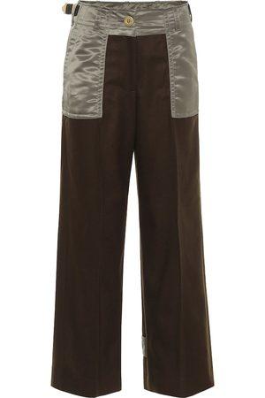 SACAI Pantaloni in twill di lana