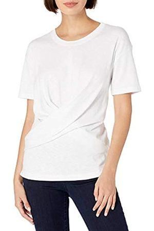 Daily Ritual Cotone Modal Stretch Slub Manica Corta Wrap T-Shirt Fashion-t-Shirts, Infradito Colorati Estivi, con finte Perline, US M