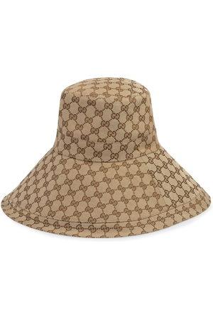 Gucci Cappello a tesa larga GG - Toni neutri