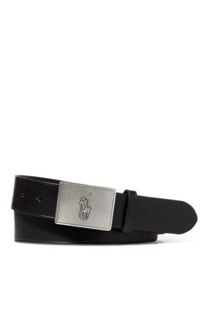 Polo Ralph Lauren Uomo Cinture - Cintura in pelle con placca Pony
