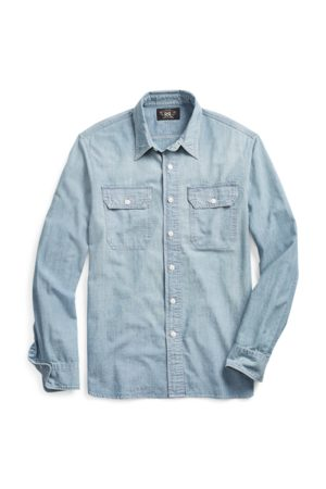 RRL Camicia in chambray indaco