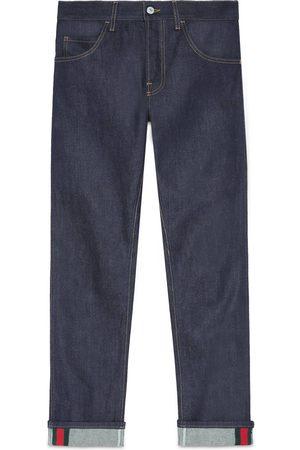 Gucci Uomo Jeans - Jeans aderenti con nastro Web