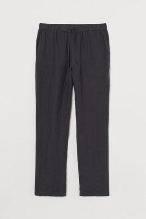 H&M Pantaloni da pigiama in lino - Grigio