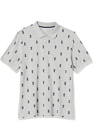 Amazon Polo in Cotone piqué di Taglio Regolare Shirts, Ananas, US L
