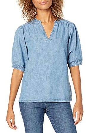 Goodthreads Denim Smock Shirt Athletic-Shirts, Lavaggio Medio, US L