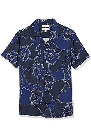 Goodthreads Camicia Hawaiana Slim Fit a Maniche Corte con Colletto da Campeggio Athletic-Shirts, Grande vialetto , US XXL
