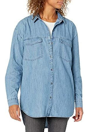 Goodthreads Denim Oversize Two-Pocket Shirt Athletic-Shirts, Lavaggio Medio, US L
