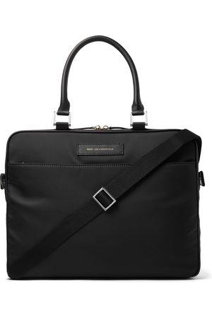 WANT LES ESSENTIELS Uomo Valigette e porta PC - Haneda Leather-Trimmed Nylon Briefcase