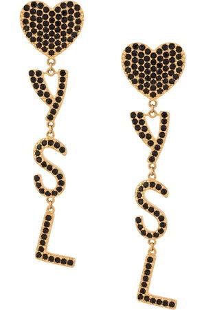 Saint Laurent Orecchini pendenti con cristalli