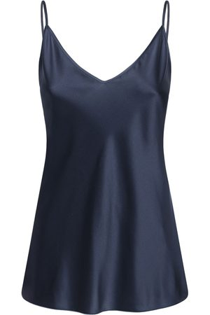 Max Mara Tank Top In Raso Di Seta Stretch