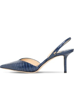 """Jimmy Choo Décolleté """"thandi"""" In Pelle Stampa Cocco 65mm"""