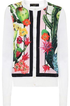 Dolce & Gabbana Esclusiva Mytheresa - Cardigan a stampa in seta e cashmere