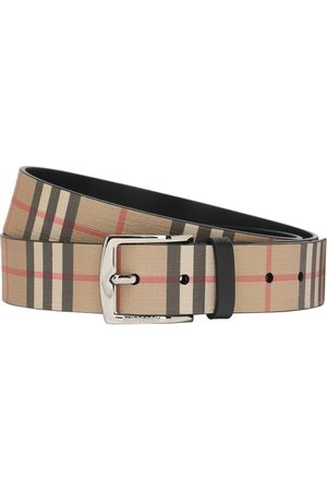 Burberry Cintura Spalmata Check 35mm