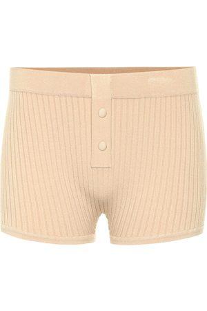 LIVE THE PROCESS Shorts a costine in maglia stretch
