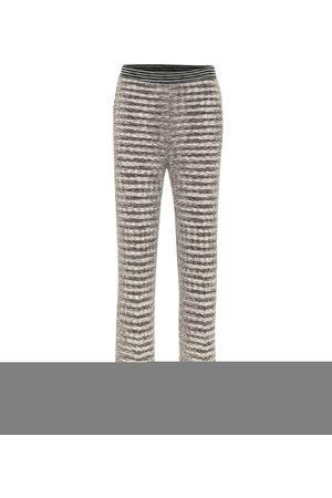 Missoni Pantaloni cropped in lana e lino stretch