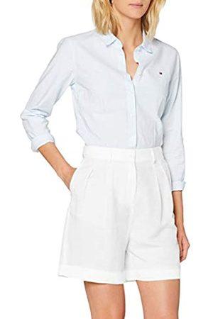 Tommy Hilfiger Linen Tencel Short Jeans Slim, Bianco , 42 Donna
