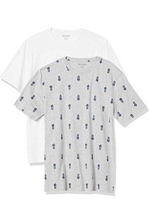 Amazon 2-Pack Slim-Fit Crewneck T-Shirt Fashion-t-Shirts, Pineapple/White, US S