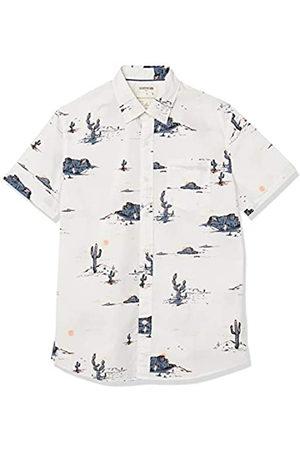 Goodthreads Marchio Amazon — - Camicia a maniche corte, in popeline stampato, da uomo, vestibilità standard, Desert Landscape, US M