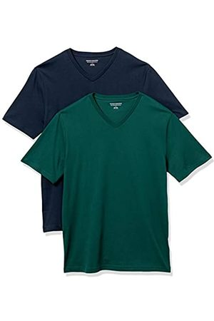 Amazon 2-Pack Slim-Fit V-Neck T-Shirt Fashion-t-Shirts, Scuro/ Scuro, US M