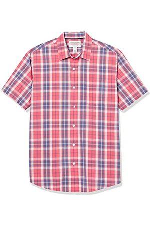 Amazon Short-Sleeve Regular-Fit Casual Poplin Shirt Button-Down-Shirts, Finestra Rossa Lavata, US XXL