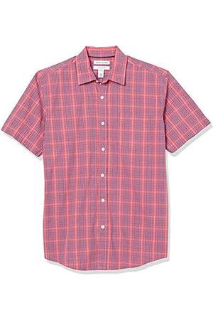 Amazon Short-Sleeve Regular-Fit Casual Poplin Shirt Athletic-Shirts, Plaid Lavato e , US XXL