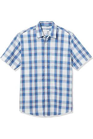Amazon Short-Sleeve Regular-Fit Casual Poplin Shirt Button-Down-Shirts, A Quadretti / , US